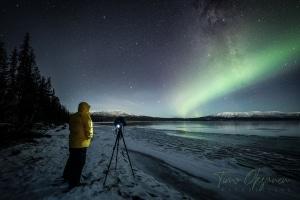 Timo Oksanen using a Camera Parka